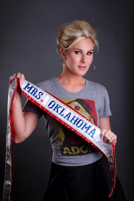 pageant headshot portrait adult female blonde hair sash