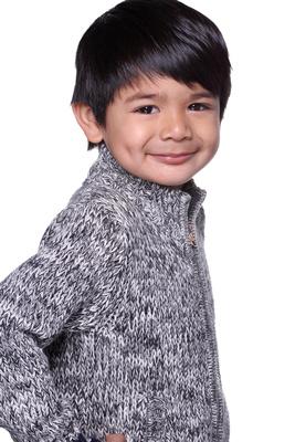 pageant headshot kid portrait boy brown hair smile sweater