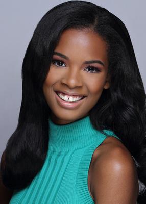 pageant headshot portrait teen female black hair smile